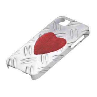 5 de tôle de cannelure arrière-plan iPhone coeur Coques iPhone 5