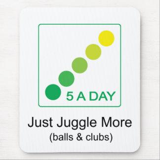 5 par jour - jonglez juste plus tapis de souris