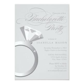 5 x 7 invitation de partie de la bague de carton d'invitation  12,7 cm x 17,78 cm
