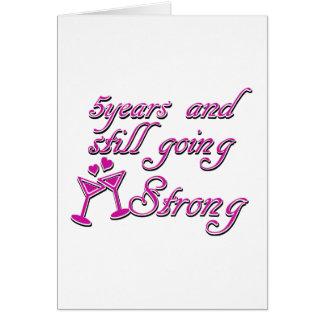 5de huwelijksverjaardag wenskaart