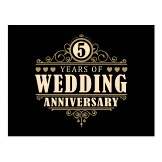 5ème Anniversaire de mariage Cartes Postales