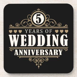 5ème Anniversaire de mariage Sous-bock