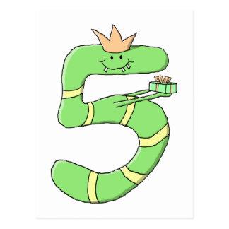 5ème Bande dessinée d'anniversaire, verte Carte Postale