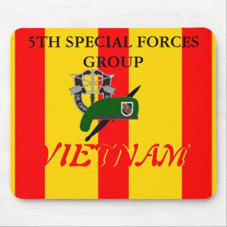 5ème GROUPE VIETNAM MOUSEPAD de FORCES SPÉCIALES Tapis De Souris