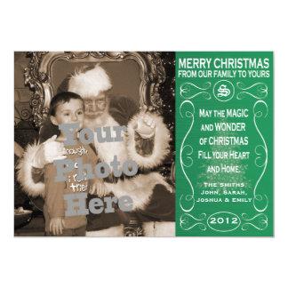 5x7 de Kaart van de Foto van Kerstmis