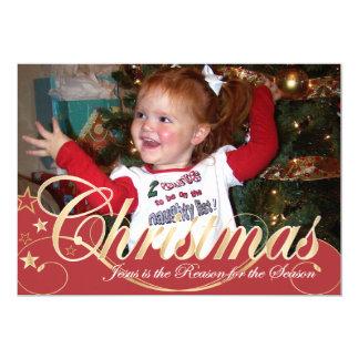 5x7 de Kaart van de Foto van Kerstmis 12,7x17,8 Uitnodiging Kaart