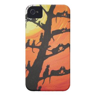 60 chats dans l'arbre d'amour coques iPhone 4