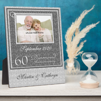 60ste Jubileum | van de Diamant de Zilveren Plaque Fotoplaat