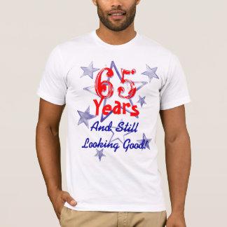 65 ans semblant toujours la bonne fête t-shirt