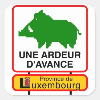 6x Sticker - UNE ARDEUR D'AVANCE Autocollant Carré