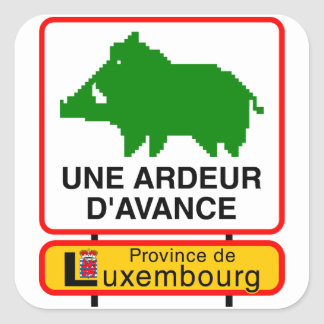6x Sticker - UNE ARDEUR D'AVANCE Sticker Carré
