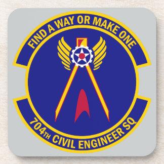 704th Escadron d'ingénieur civil Dessous-de-verre