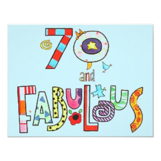 70 et joyeux soixante-dixième anniversaire carton d'invitation 10,79 cm x 13,97 cm