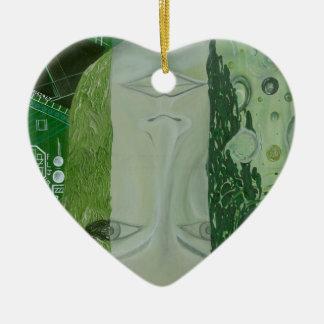 7 dimensions dans un endroit ornement cœur en céramique