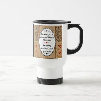 7 mots pour un long et heureux mariage mug de voyage en acier inoxydable