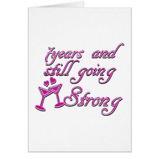 7de huwelijksverjaardag wenskaart