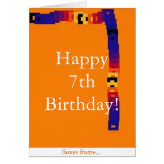 7ème carte d'anniversaire de petit enfant