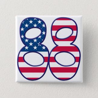 88 âge Etats-Unis Badge Carré 5 Cm