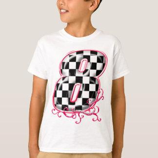 8 auto het rennen aantal t shirt