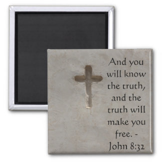 8h32 inspiré de John de VÉRITÉ de vers de bible Aimant