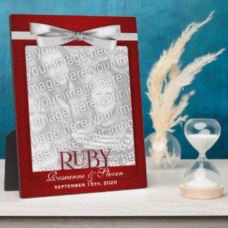 8x10 cadre de photo d'anniversaire de mariage du r impressions sur plaque