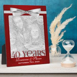 8x10 cadre de photo d'anniversaire de mariage du r photo sur plaque