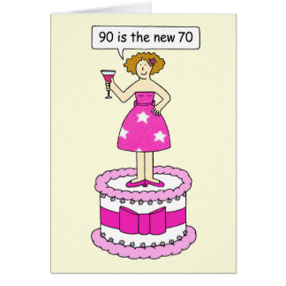 90 est la nouvelle humeur d'anniversaire d'âge de carte de vœux