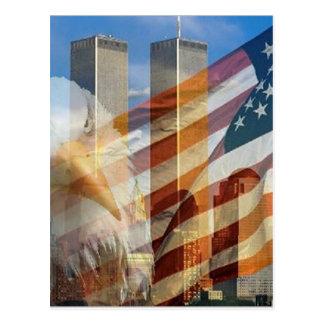911 tours de drapeau d'aigle cartes postales