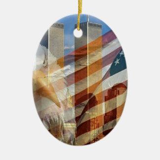 911 tours de drapeau d'aigle ornement ovale en céramique