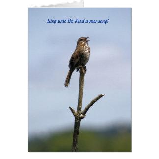 96:1 de psaume - oiseau de chanson - carte et