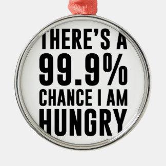 99,9 Occasion j'ai faim Ornement Rond Argenté