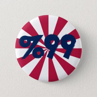 99% dans le bouton rouge, blanc et bleu badge rond 5 cm