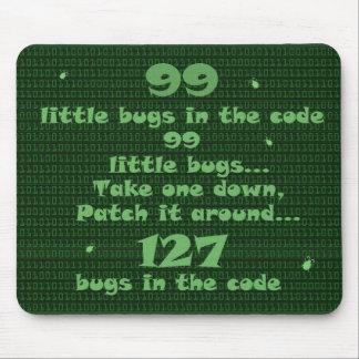 99 petits insectes dans le code tapis de souris