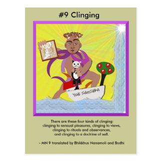 #9 s'accrochant - de surgir dépendant cartes postales