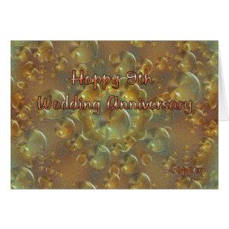 9ème Anniversaire de mariage Carte De Vœux