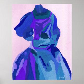 """A. Boleyn Blue affiche de la robe I"" - personnali"