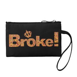 A cassé la bourse de pièce de monnaie