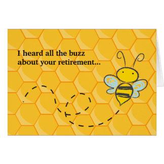 A entendu toute la retraite mignonne d'abeille de carte de vœux