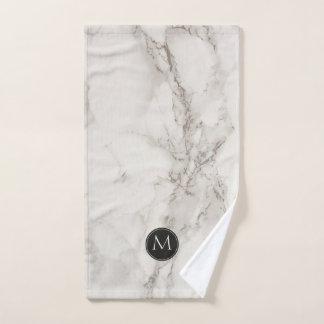 À la mode noir et blanc de monogramme de marbre