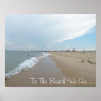 À la plage nous allons affiche