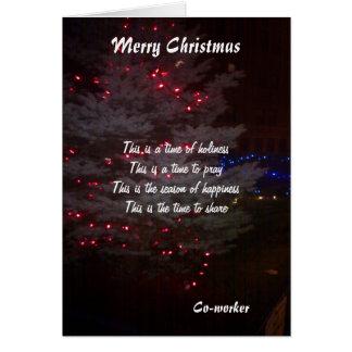 À mes cartes de voeux de Noël de collègue