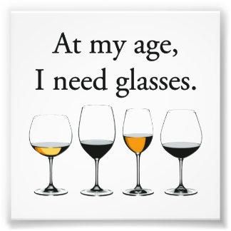 À mon âge, j'ai besoin de verres photographe