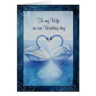À mon épouse notre jour du mariage carte