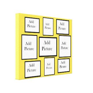 A personnalisé ce collage jaune de photo d'arrière toiles