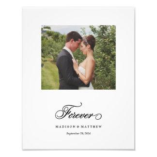 | a personnalisé pour toujours la copie de mariage photos sur toile