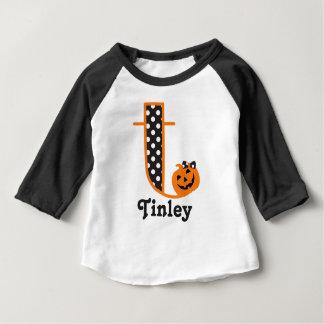 Ă?re initiale t de citrouille de chemise de t-shirt pour bébé