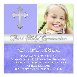 Ă?re invitation de photo de sainte communion