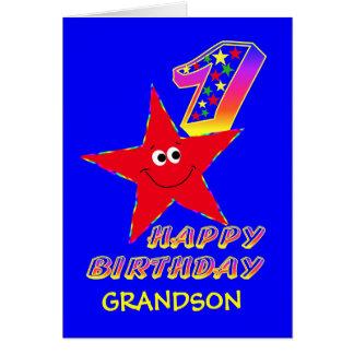 Ă?res cartes d'anniversaire d'étoile souriante