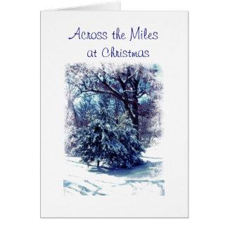 À travers la carte de Noël de milles