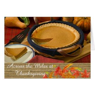 À travers la carte de voeux de thanksgiving de carte